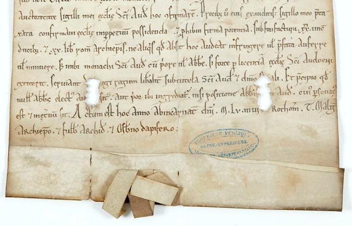 Charte médiévale. Base de données Scripta