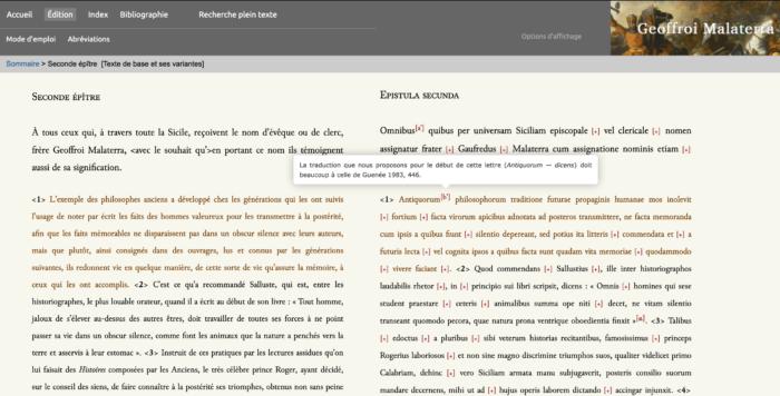 Copie d'écran édition critique Maleterra