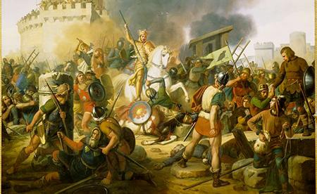 Le comte Eudes défend Paris contre les Normands en 886, Jean Victor Schnetz