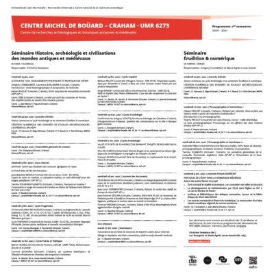 Programme du séminaire