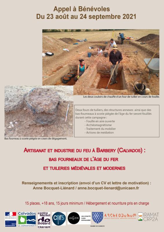 Appel à bénévoles fouilles de Barbery
